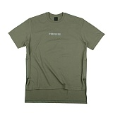 [아이넨]EINEN-Peerless Doubleside Zipper 1/2 T-Shirts Khaki 반팔티
