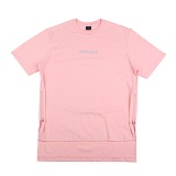 [아이넨]EINEN-Peerless Doubleside Zipper 1/2 T-Shirts Pink 반팔티