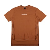 [아이넨]EINEN-Peerless Doubleside Zipper 1/2 T-Shirts Brown 반팔티
