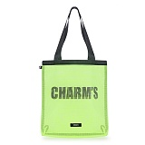 [참스]CHARMS MASH BAG YELLOW GREEN 메쉬 토트백