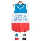 [모니즈] 루지핏 USA 나시 (2color) TSS031