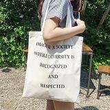 [에이비로드]ABROAD - Lettering Eco Bag (basic) 에코백 숄더백