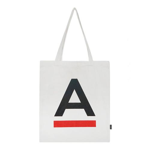 [에이비로드]ABROAD - A Logo Eco Bag (white) 에코백 숄더백