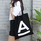 [에이비로드]ABROAD - A Logo Eco Bag (black) 에코백 숄더백