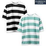 [해리슨] 엠보 루즈 대단가라 반팔 티셔츠  CLO1261