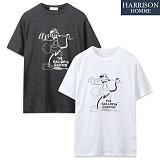 [해리슨] 복고 반팔 티셔츠 SPG1195