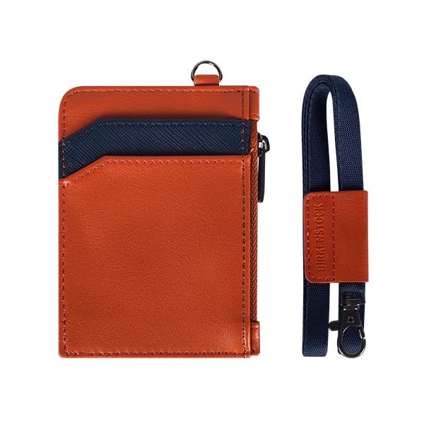 [버켄스탁]BIRKENSTOCK - W06 Combi Orange 목걸이 카드지갑