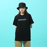 [지플랫] 블랭크 반팔 티셔츠 (BLACK)