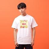 [지플랫] 컬러풀 반팔 티셔츠 (WHITE)