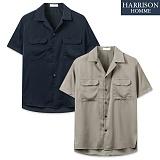 [해리슨] 오픈 카라 포켓 반팔 셔츠  RTW1295