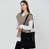 [로아드로아]ROIDESROIS - NEW AH CHOO SHOULDER BAG (BLACK) 숄더백 아츄 에코백 가방 크로스백
