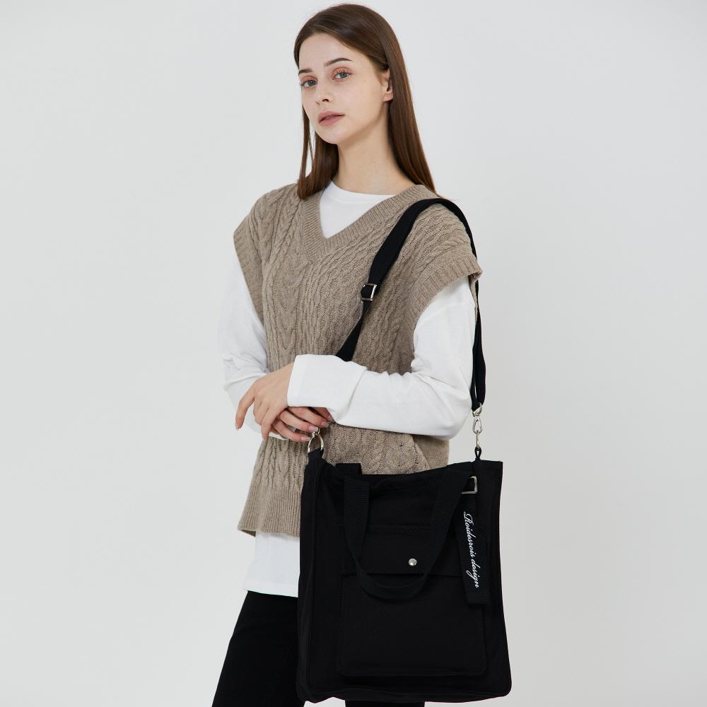 [10월24일예약발송][로아드로아]ROIDESROIS - NEW AH CHOO SHOULDER BAG (BLACK) 숄더백 아츄 에코백 가방 크로스백