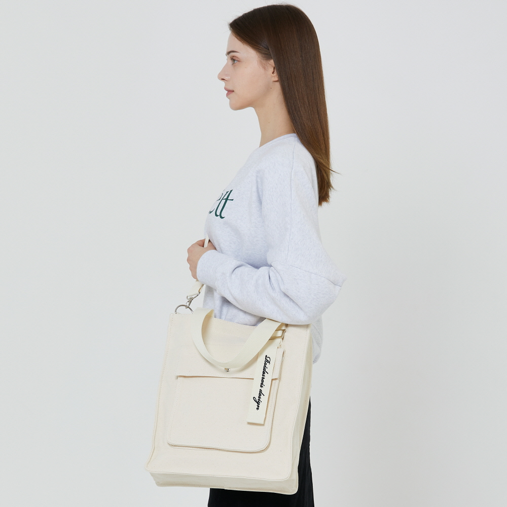 [로아드로아] NEW AH CHOO SHOULDER BAG (IVORY) 숄더백 아츄 에코백 가방 크로스백