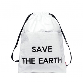 [디얼스]THE EARTH - TYVEK GYM SACK - WHITE 백팩