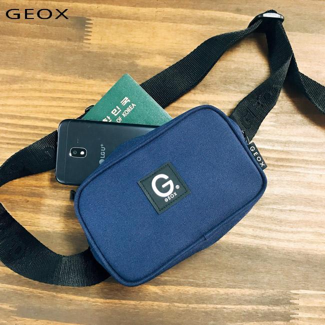 [제옥스]GEOX POCKET waist bag NAVY 포켓웨이스트백 네이비