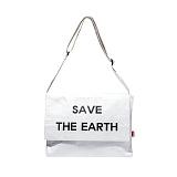 [디얼스]THE EARTH - TYVEK POST BAG - WHITE 크로스백