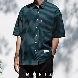 [모니즈] 폴리 줄지 반팔 셔츠 (6color) SHT621