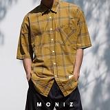 [모니즈] 마리오 체크 반팔 셔츠 (4color) SHT620