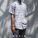 [모니즈] 앙제 체크 반팔 셔츠 (3color) SHT615