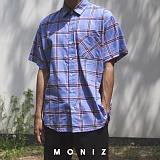 [모니즈] 파스텔 체크 반팔 셔츠 (2color) SHT614