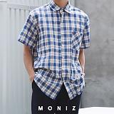 [모니즈] 초이 체크 반팔 셔츠 (3color) SHT611