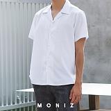 [모니즈] 오픈 카라 반팔 셔츠 (3color) SHT610
