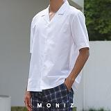 [모니즈] 데일리 오픈 반팔 셔츠 (5color) SHT605
