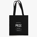 [피스메이커]PIECE MAKER - PROFILE ECO BAG (BLACK) 에코백