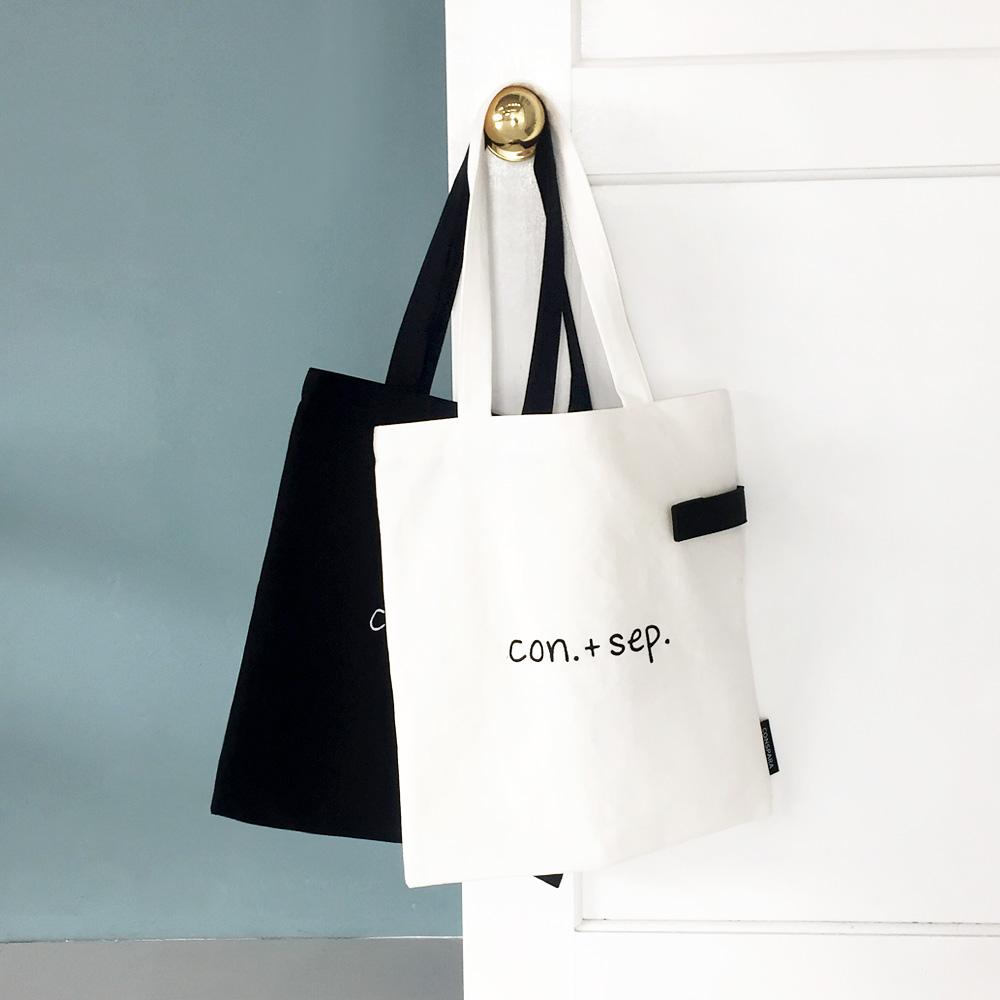 [컨스파라]CONSPARA SIDE POCKET SHOULDER BAG 사이드포켓 숄더백 에코백