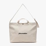 [피스메이커]PIECE MAKER - CLASSIC CANVAS MESSENGER BAG (WHITE)