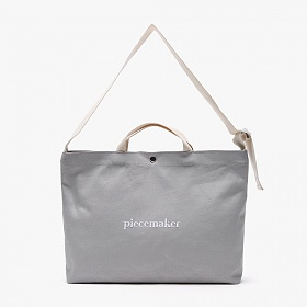 [피스메이커]PIECE MAKER - CLASSIC CANVAS MESSENGER BAG (GREY)