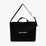 [피스메이커]PIECE MAKER - CLASSIC CANVAS MESSENGER BAG (BLACK)
