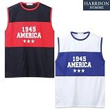 [해리슨] 아메리카 배색 나시 MJB1272