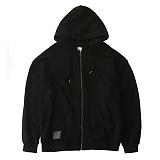 [언클락와이즘]unclockwism-side line printing hoodie zip-up(black) 후드집업 후드집엎