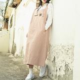 [언클락와이즘]unclockwism-pocket long one-piece(pink) 원피스