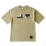 [언클락와이즘]unclockwism-front printing short sleeve T-shirt 01(beige) 반팔티 티셔츠