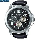 카시오 MTP-X300L-1A 남성 가죽시계