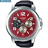 카시오 MTP-X300L-4A 남성 가죽시계