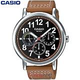 카시오 MTP-E309L-5A 남성 가죽시계