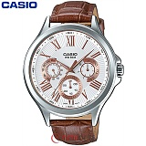카시오 MTP-E308L-7A 남성 가죽시계