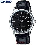 카시오 MTP-V002L-1A 남성 가죽시계