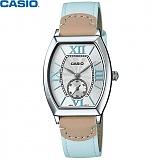 [카시오] CASIO LTP-E114L-2A 여성 가죽시계