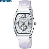 [카시오] CASIO LTP-E114L-6A 여성 가죽시계