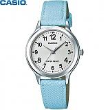 [카시오] CASIO LTP-1390LB-7B1D 여성 가죽시계