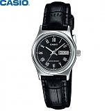 [카시오] CASIO LTP-V006L-1B 여성 가죽시계