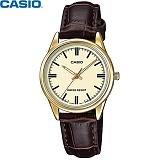 [카시오] CASIO LTP-V005GL-9A 여성 가죽시계