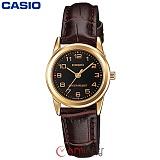 [카시오] CASIO LTP-V001GL-1B 여성 가죽시계