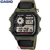 카시오 10년전지 AE-1200WHB-3B 남성 군인 전자시계