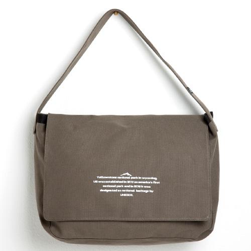 [옐로우스톤] 메신저백 MESSENGER BAG - YS2068AG 에쉬그레이 캔버스 메일백
