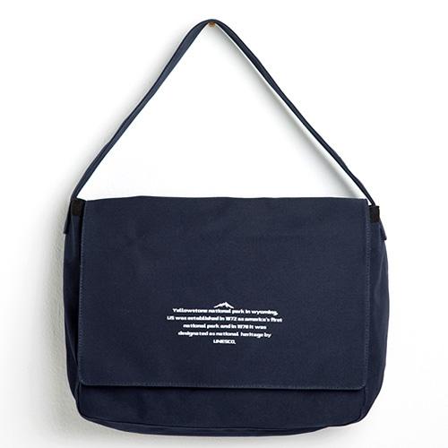 [옐로우스톤] 메신저백 MESSENGER BAG - YS2068DN 다크네이비 캔버스 메일백
